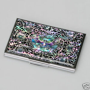 Details About Design Business Card Holder Luxury New Ovp Metal Mother Of Pearl Show Original Title