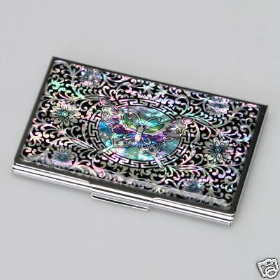 Kredit Visitenkartenetui Luxus Neu/&OVP Metall Blau