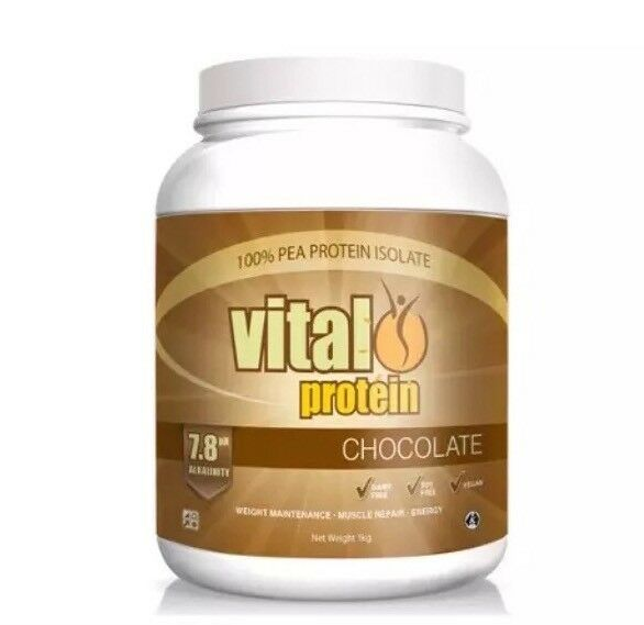 ✅VITAL GREENS PROTEIN CHOCOLATE 1kg 100% Pea Protein Isolate Vegan Natural