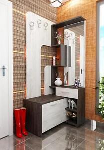 Dettagli su Mobile ingresso moderno con specchio e appendiabiti modello  Stefy design