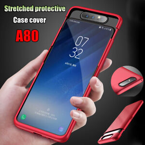 For Samsung Galaxy A80 Case Shockproof Hybrid Hard Cover + Tempered Glass 2pcs