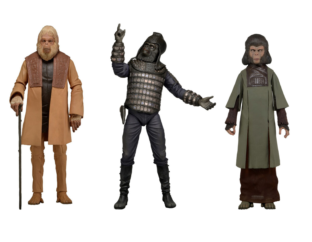Classic PLANET OF THE APES series 2 action action action figure setZiraZaiusNECANIB d33b45