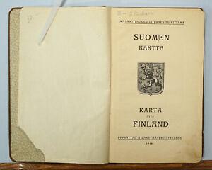 Finland Maps 1920 Suomen Kartta Karta Over Finland Color Atlas