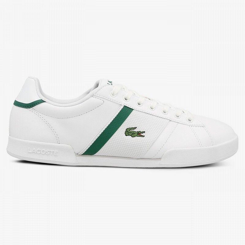 Lacoste Deston 117 Premium NEU Herren Leder Sneaker Weiß White Golf Polo Anzug