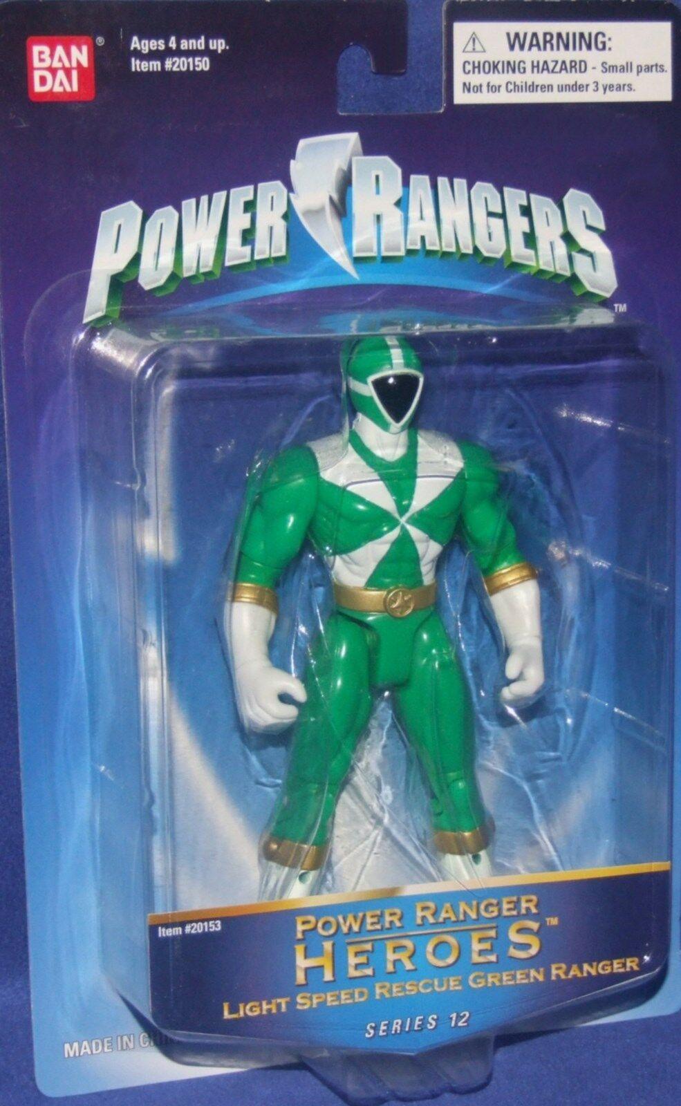 Power Rangers Rangers Rangers Lightspeed Rescue 5  Green Heroes Series 12 New 2004 Factory Seal a1a24a