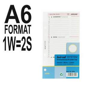 1 Tag = 1 Seite bind A6 Kalender für Systemplaner Organizer Terminplaner