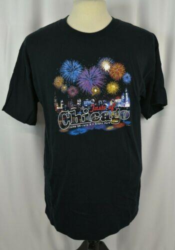 Gildan Men's T-Shirt Size Large Taste Of Chicago 2