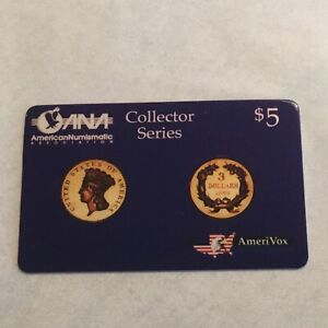 Phone-Card-1993-American-Numismatic-Association-Collector-Series-5-00-Rare