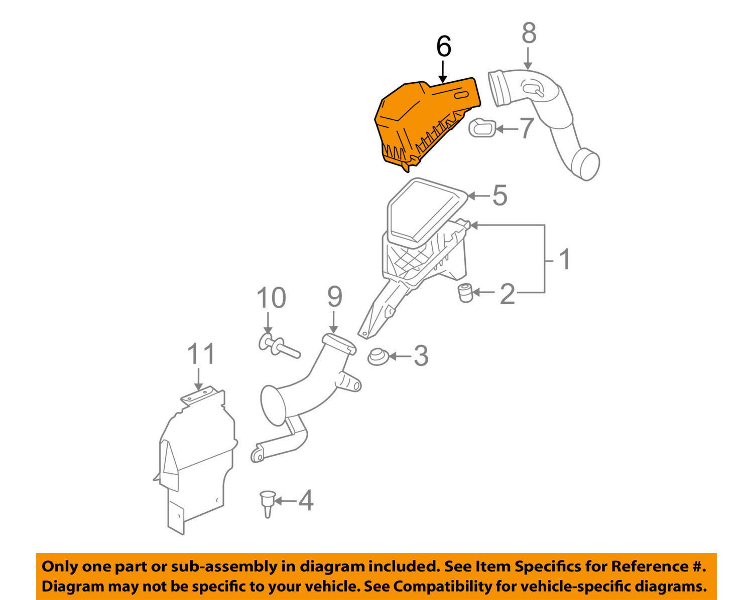 NISSAN OEM Air Cleaner Intake-Cover Clip 165987S000