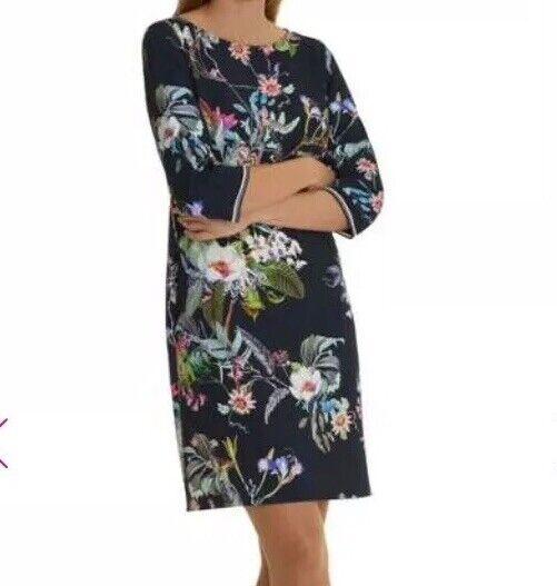 Betty Barclay Floral Print Dress Größe 42   Box E130