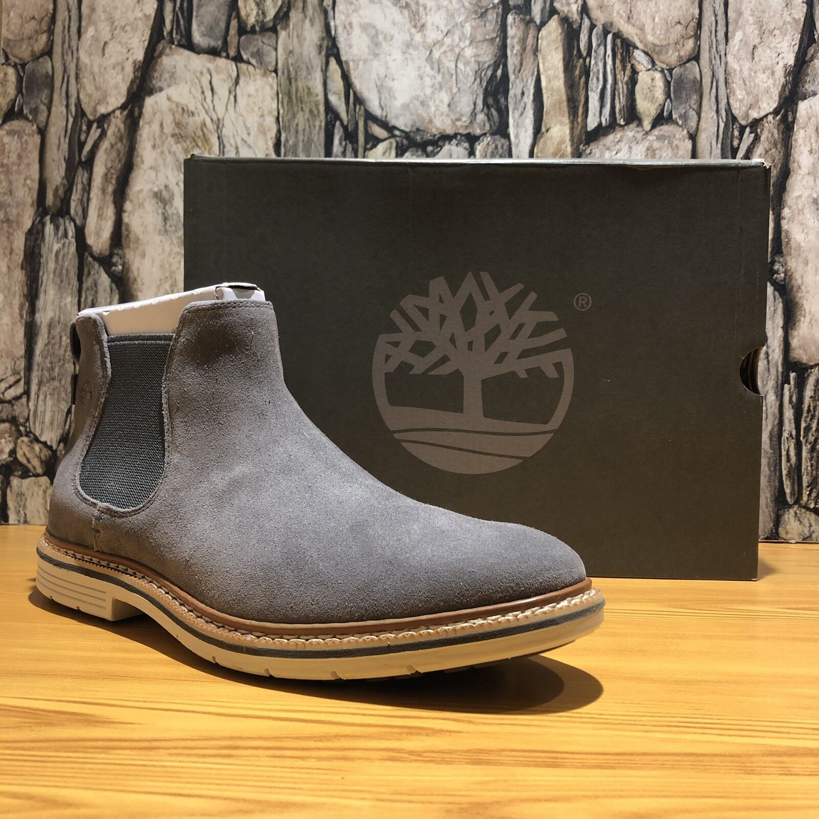 Timberland Men's Naples Trail Chelsea Boot Grey Graphite TB0A1PD6 Size 13