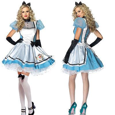 Alice in Wonderland Fancy Dress Costume Outfit Many Styles UK 8 10 12 14 16 18