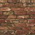 rustikaler Ziegel-effekt Tapete 10m rot feine Dekor FD31285