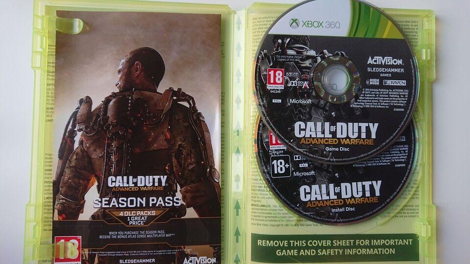 Call of duty advance warfare, Xbox 360