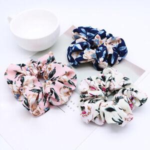 Sweet-Flower-Hair-Scrunchie-Girls-Ponytail-Holder-Soft-Elastic-Hair-Ties-Rope-C8