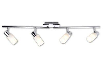 LED-Gelenkbogen 4-flammig Deckenleuchte Chrom Dreh-SchwenkbarSpot-Köpfe