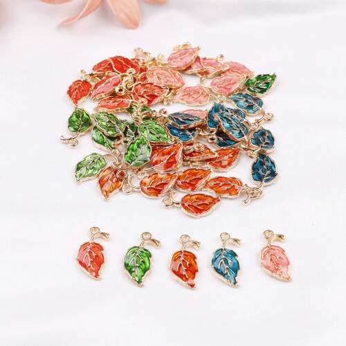 20*10mm 10pcs//lot alloy drop oil leaves shape charms pendant for diy jewelry Cq