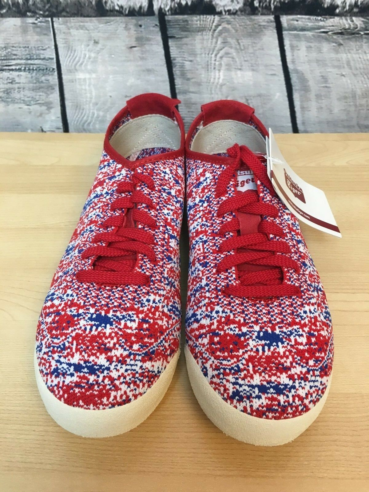 ASICS New Onitsuka Tiger MEXICO 66 Knit Red Unisex Japanese Fits Men's & Women's