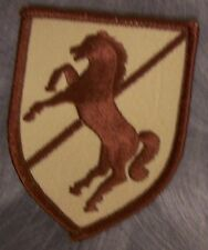 Embroidered Military Patch U S Army 11th Armored Cavalry Regiment NEW desert