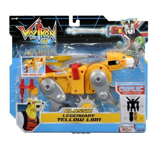 YELLOW LION classic VOLTRON Legendary Defender Playmates NEW 1984 action figure