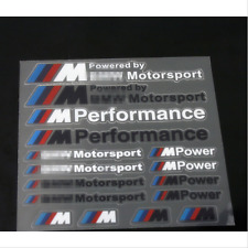 M POWER SPORT PERFORMANCE TECH CONFEZIONE decalcomania ADESIVI EMBLEMA PER BMW