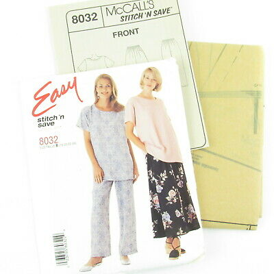 8032 UNCUT McCalls SEWING Pattern Top Pull on Skirt Pants OOP Easy Stitch n Save