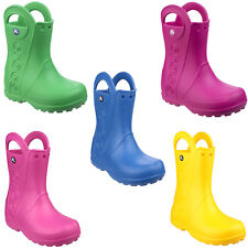 056e0a236d49d9 Crocs Kids Handle It Rain Roomy Fit BOOTS Wellies in Wide Range of ...
