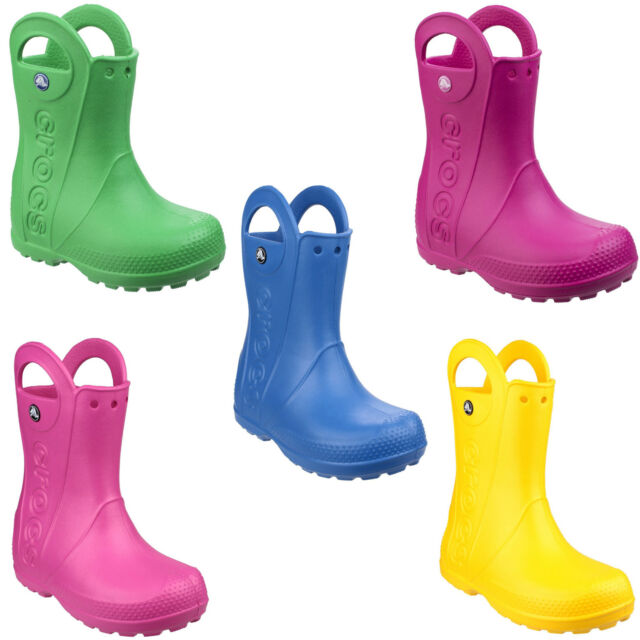 63b3d02d0614a Crocs Kids Handle It Wellingtons Childrens Waterproof Boys Girls UK6-3
