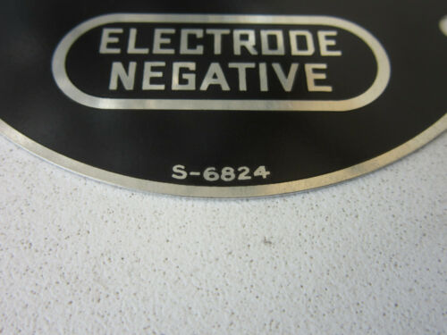 Lincoln S-6824 Arc Welder Positive Negative Polarity Switch Plate M6824 SAE-400