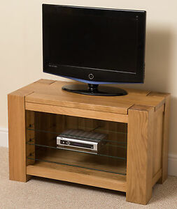 tv stand for small living room kuba solid oak wood tv dvd hi fi television cabinet stand 25889