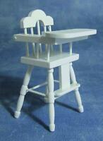 1/12th Scale Dolls House White High Chair
