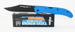 Cold-Steel-Broken-Skull-IV-Knife-Blue-G-10-Handles-Black-Plain-Edge-54SBLU