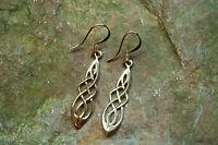 Ohrringe Ohrhänger Harmonie Keltische Knoten BRONZE Kelten Wikinger