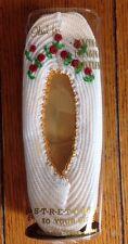 Vintage Tootsies Nylon Slippers Nasharr OSFA Embroidered Red Flowers Ballet