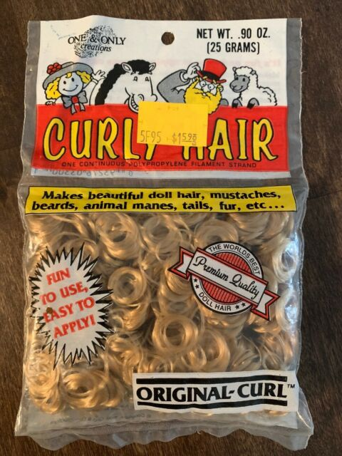 Vintage One /& Only Creations Curly Hair Sandy Blonde Doll Hair Maxi-Curl 03-500