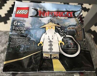 Lego Ninjago Movie Polybag MASTER WU Minifigure Keychain 5004915 VIP Keyring