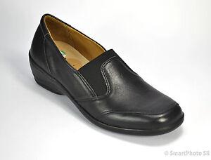 Details zu Comfortabel Damenschuhe für lose Einlagen Leder schwarz Gr. 37 (PE 1371S)