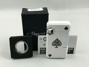 S-T-Dupont-HOOKED-Ace-of-Spades-Pik-As-Jet-Feuerzeug-mit-Schluesselring