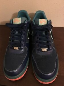 Nike Air Force 1 Navy Suede Mens Size 13