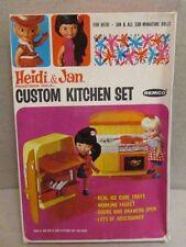 VINTAGE 1960'S REMCO HEIDI & JAN CUSTOM KITCHEN SET IN ORIGINAL BOX