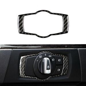 Carbon-Fiber-Headlight-Switch-Frame-Trim-1-For-BMW-3-Series-E90-E92-E93-ACY