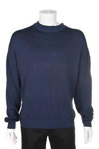blu manica a maniche Pullover Tulliano Xxl lunga 2xl da alto lunghe collo uomo pxTf1Y