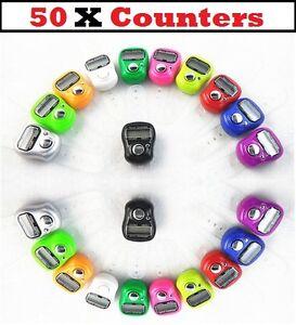 50 x anneau de doigt numérique compteur enregistreur ligne compteur tasbeeh job lot En Gros  </span>