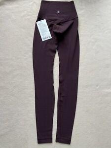 "Lululemon Align Pant *Full Length 28"" Plum Shadow Size 0"