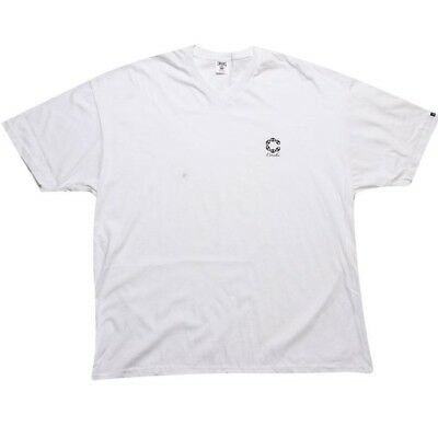Radient Crooks And Castles Big Link V-neck White T Shirt 860716wht Activewear Tops Clothing, Shoes & Accessories