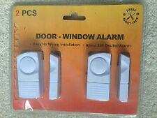 2PC WINDOW DOOR ENTRY ALARM SET HOME SHED SECURITY WIRELESS THEFT BURGLAR NEW