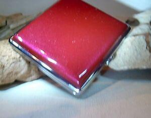 Edles Zigaretten Etui Box Dose Case Metallic Rot Leder Design NEU