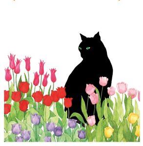 BUY 4 get 2 FREE Floral Cat Paper Napkin for Decoupage Tissue Serviette x2