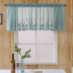 Stupendous Details About Kitchen Cafe Curtain Floral Embroidery Sheer Voile Window Valance Lace Home Deco Home Interior And Landscaping Palasignezvosmurscom