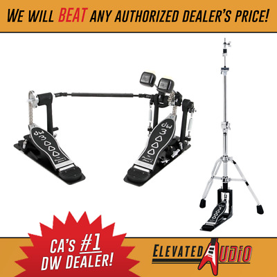 dw 3000 series 2 leg hi hat stand double bass drum pedal ca 39 s 1 dealer ebay. Black Bedroom Furniture Sets. Home Design Ideas